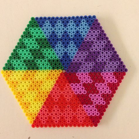 Colorful design hama perler beads by pagey163