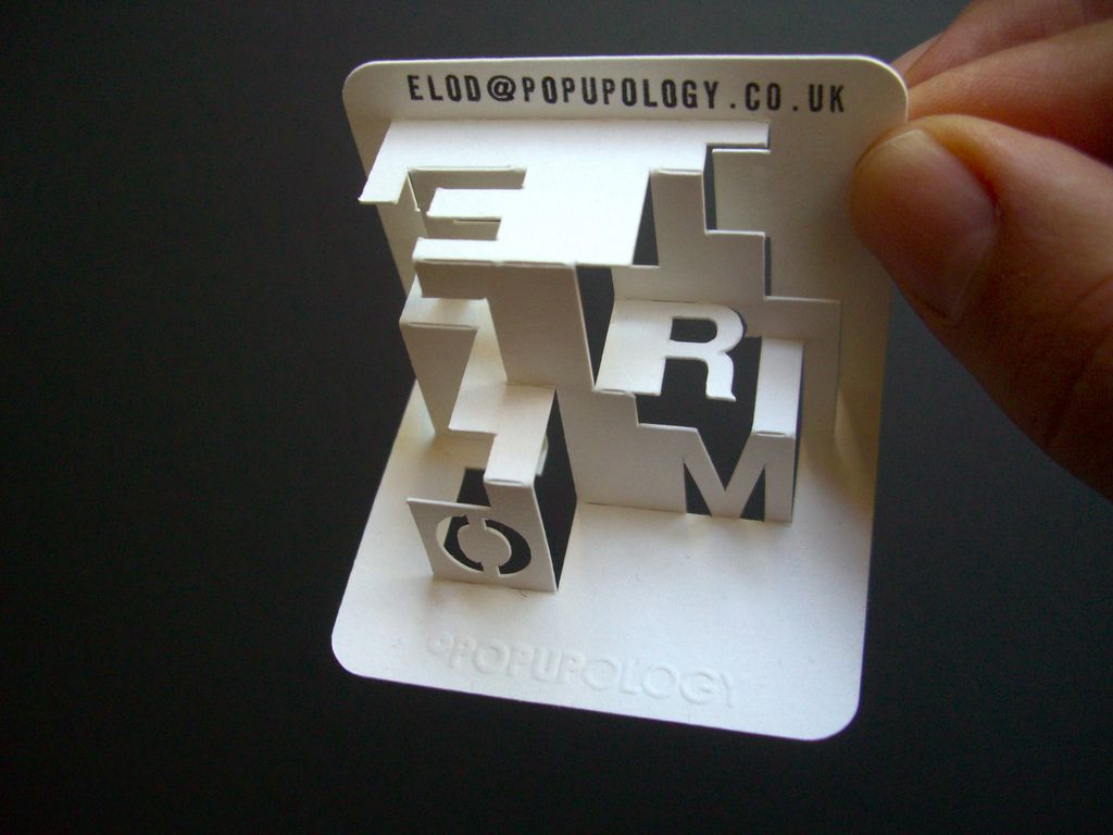 httpsflickrp9kaepl 3 d business card series viv form space lettering playing with form see the full range at wwwfoldformcouk - 3 D Business Card