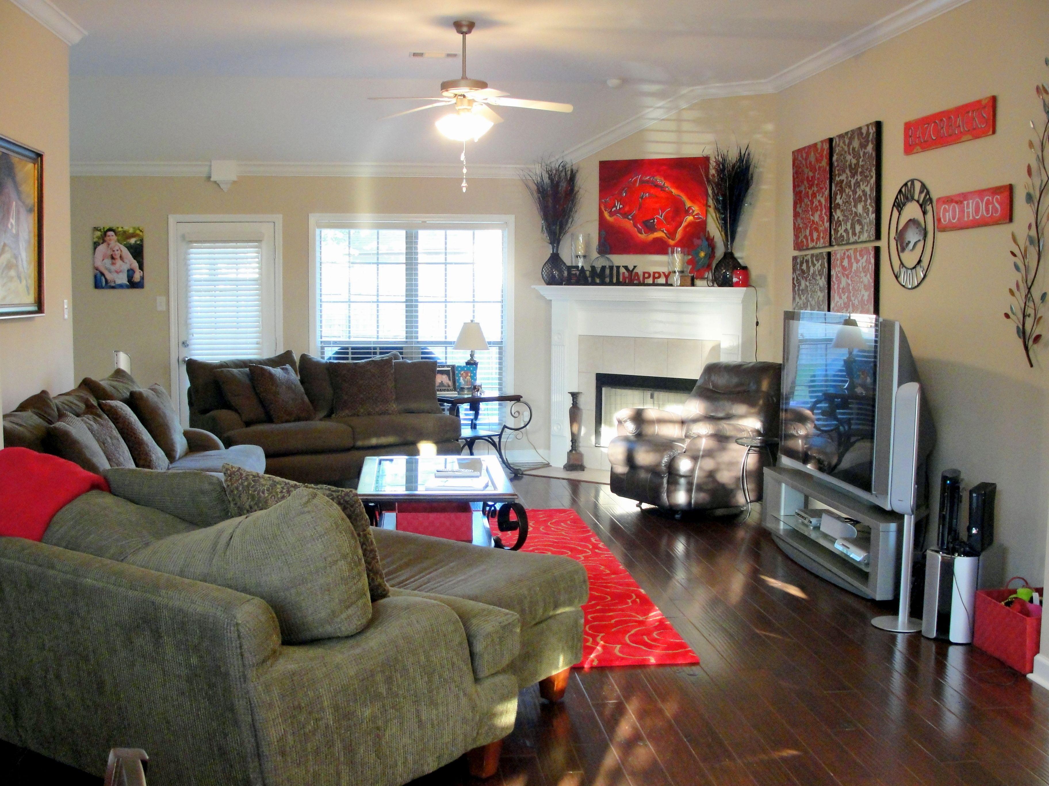 My Arkansas Razorbacks Themed Living Room
