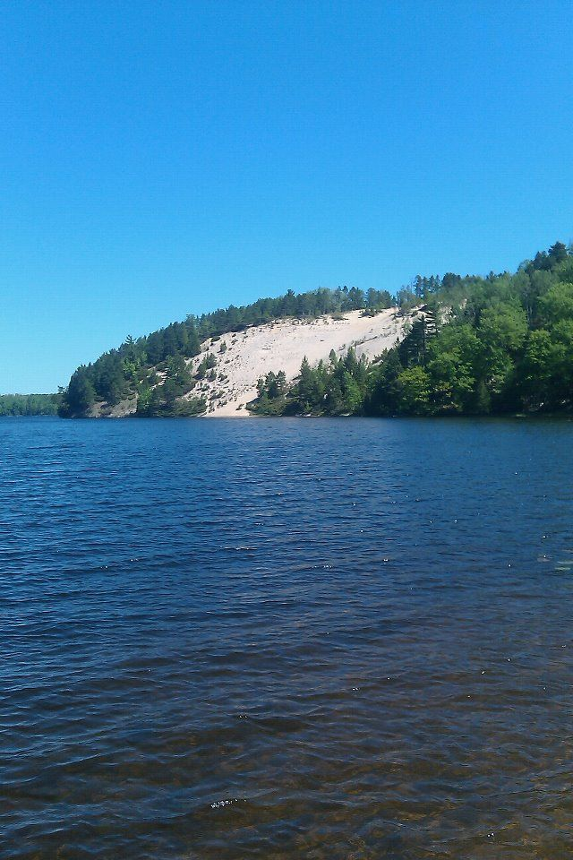 High Banks on the Au Sable RIver, Oscoda, Ml - closer to Glennie. We would canoe to here