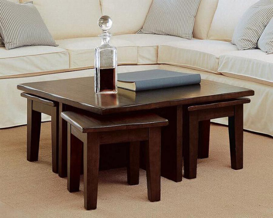 Coffee Table With Stools Coffee Tables Pinterest Stools - Dining table with stools underneath