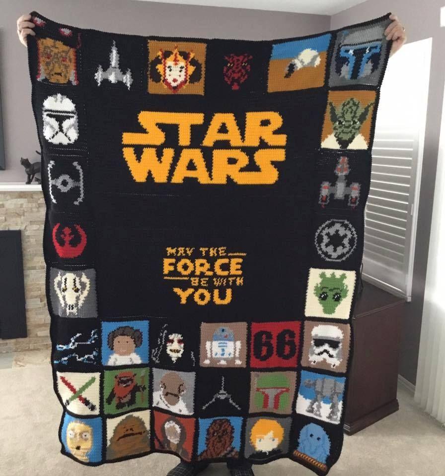 Star Wars Crochet Patterns Free Tutorial Ideas | Manta, Tejido y ...