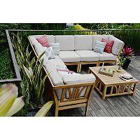 teak sectional sofa set 8 pc sam s club patio pinterest rh pinterest com