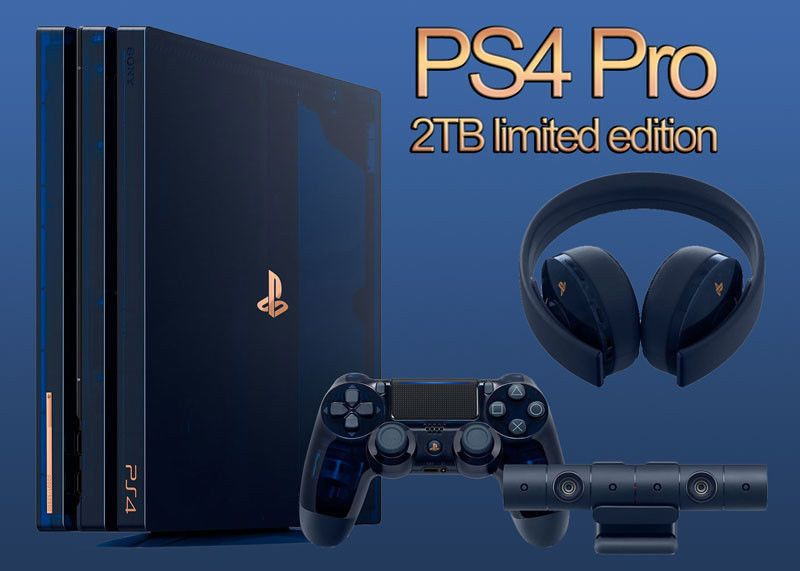 Sony Playstation Ps4 Pro 500 Million 2tb Limited Edition Console Collectors Item Sony Playstation Ps4 Ps4 Pro Playstation