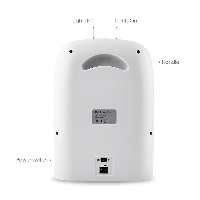 Amzdeal Portable Mini Dehumidifier For Bathroom Bedroom Kitchen 1500ml  Capacity: Amazon.co.uk