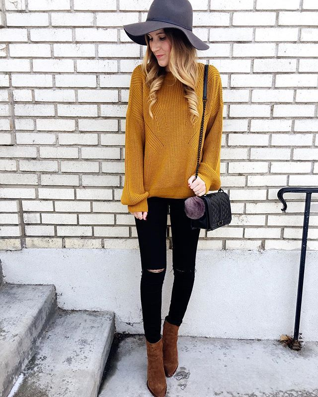 Golden yellow sweater