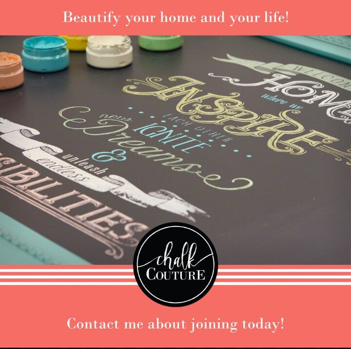 Home decorating made easy with Chalk Couture. Chalk paste and silk ...