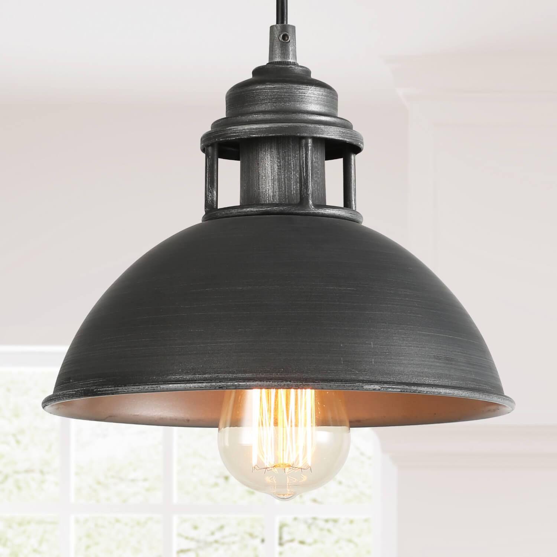 Antique Style Round Chandelier Light 1218 Lights Metal Pendant Lighting in Black for Restaurant