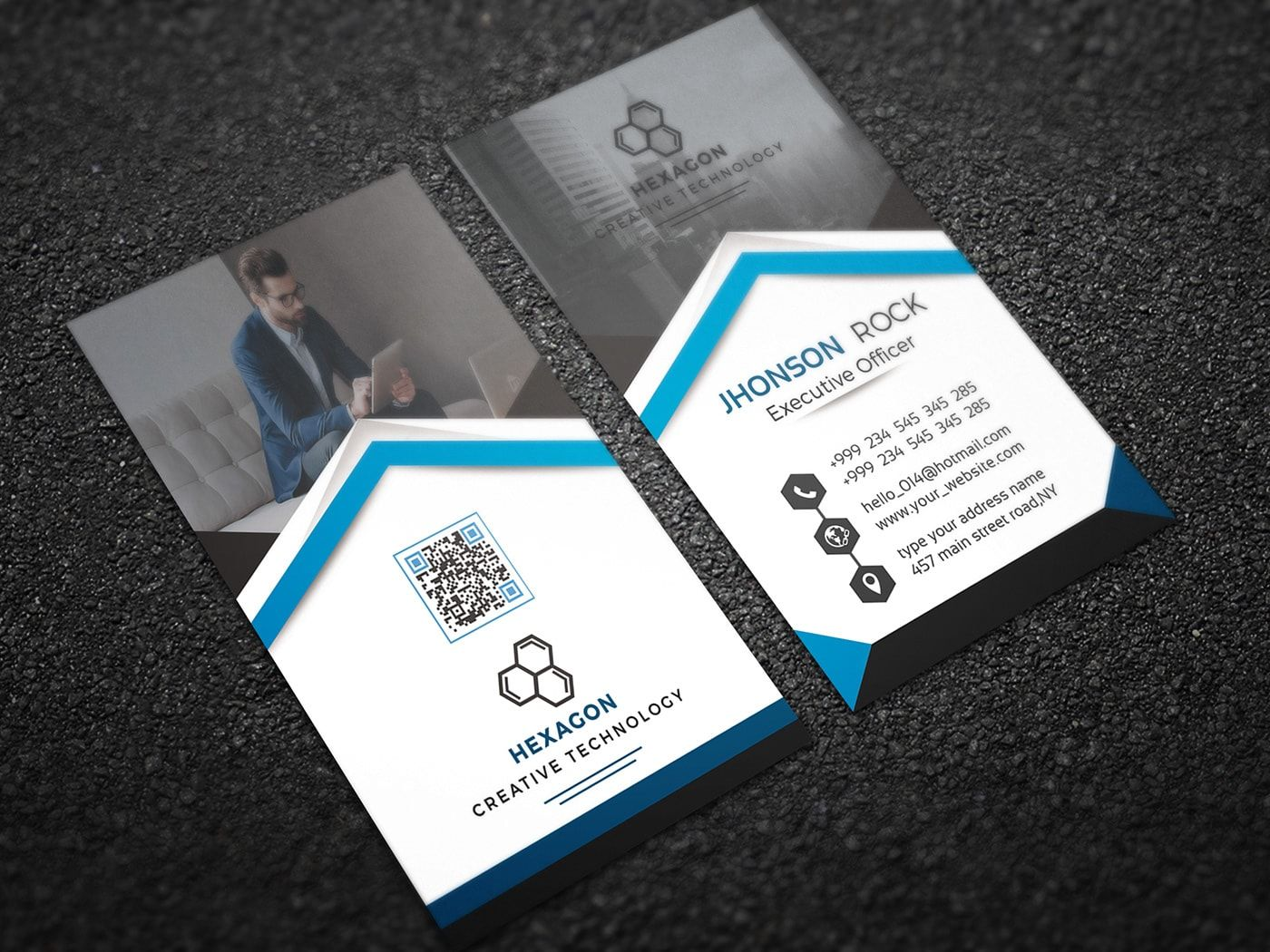 Free Vertical Business Card Download Psd Templates Pixelsdesign Net Vertical Business Cards Free Business Card Templates Free Business Card Mockup