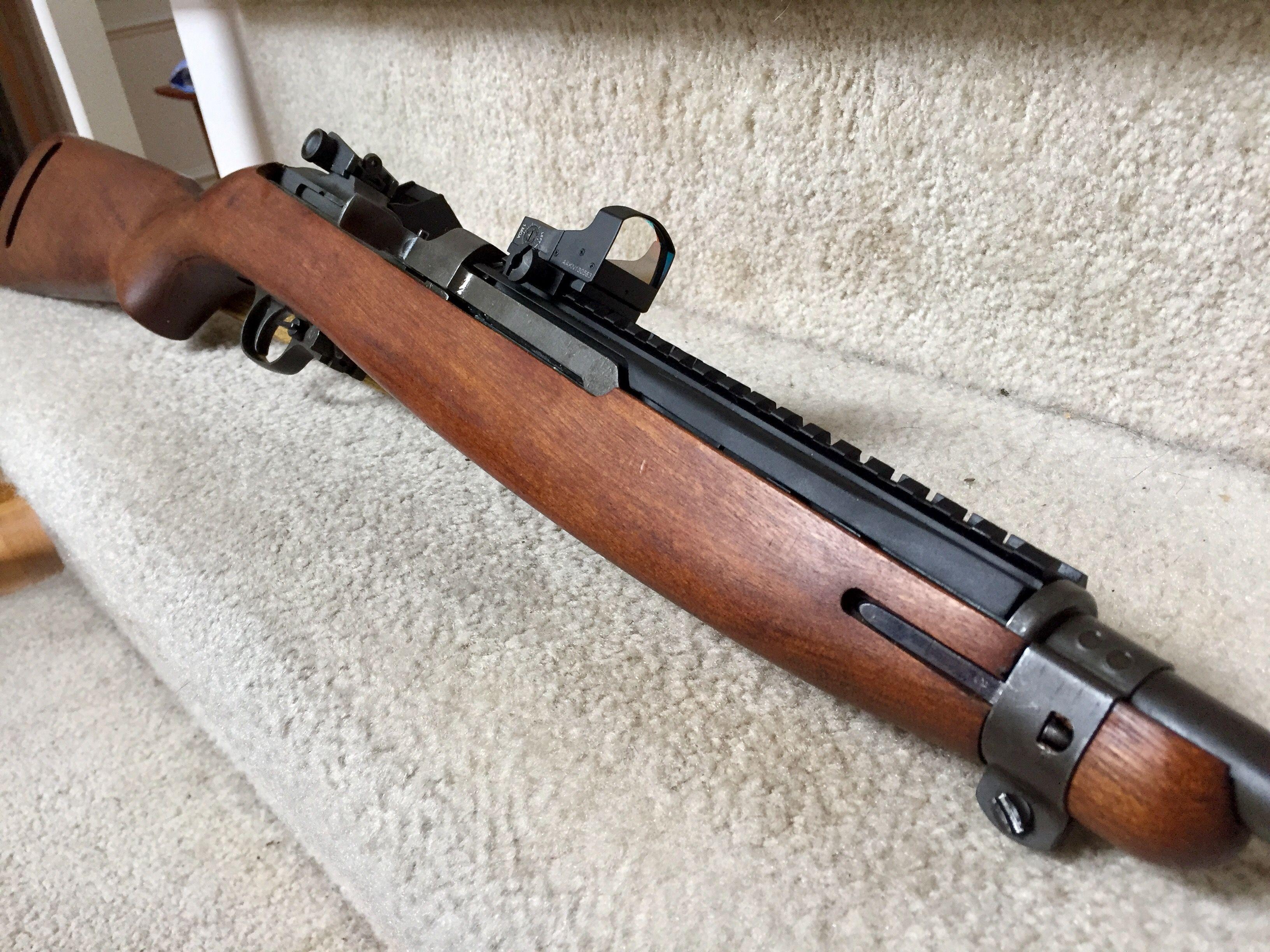 M1 Carbine Custom rail to replace original heat shield to