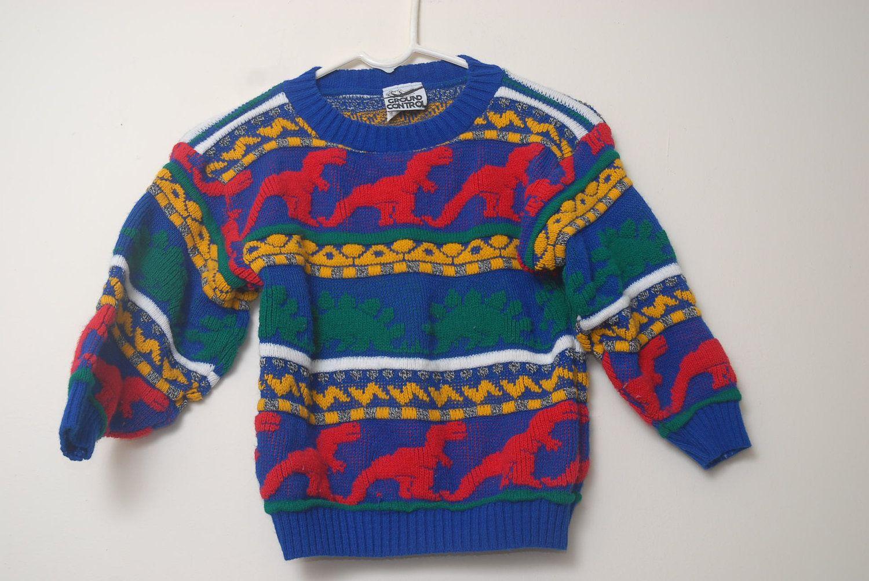 Vintage 90s Kids Dionsaur Sweater | 90's Kid | 90s kids