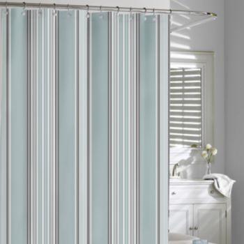Kassatex Capri Stripe Fabric Shower Curtain Striped Shower
