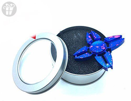 USA Seller Fid Tri Spinner Dark Blue Aluminum Metal Desk Toy
