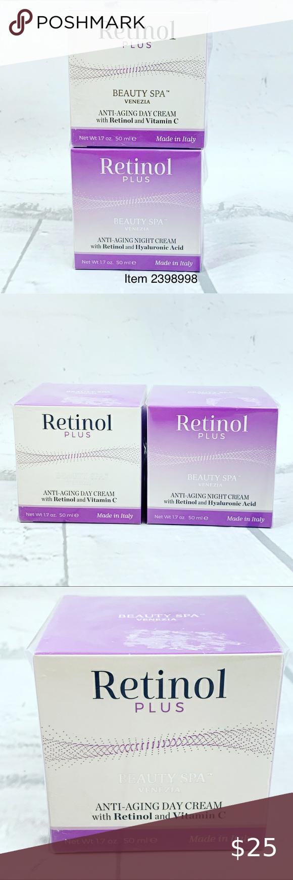 Retinol Plus Beauty Anti Aging Day And Night Cream In 2021 Anti Aging Beauty Night Creams Firming Moisturizer