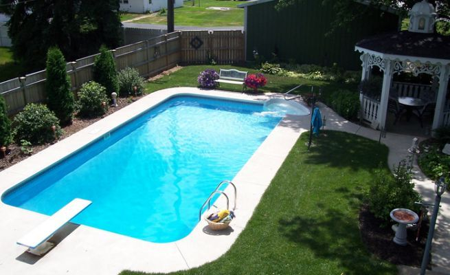 14 X 24 Rectangle Swimming Pool House Ideas Swimming