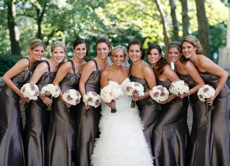05c9a99eed Love these mocha brown bridesmaid dresses!