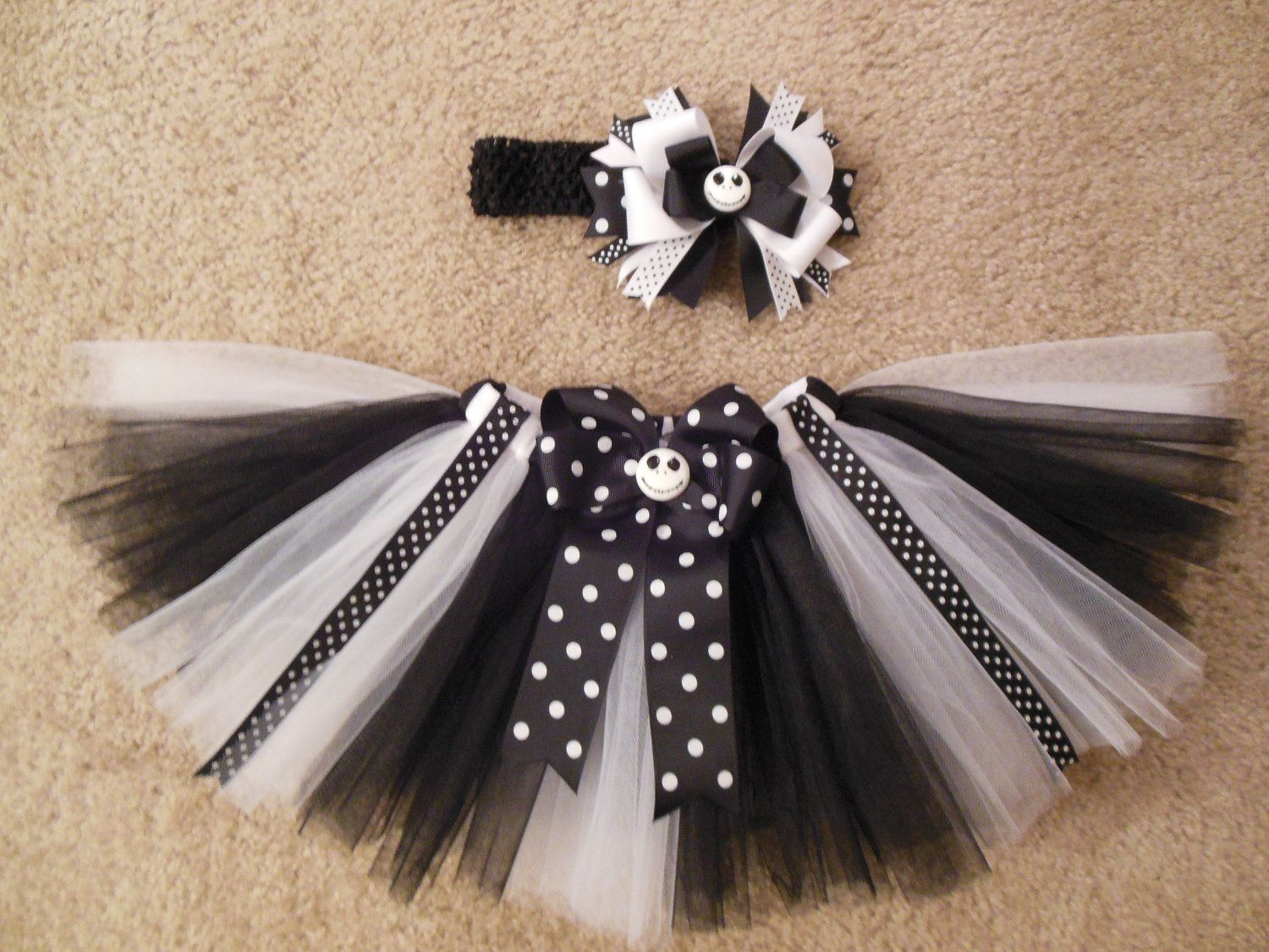 Nightmare before Christmas inspired tutu set, custom made up to a 4t ...