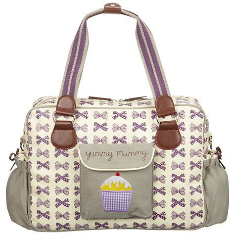 buy pink lining yummy mummy bows changing bag grape online at for the baby. Black Bedroom Furniture Sets. Home Design Ideas
