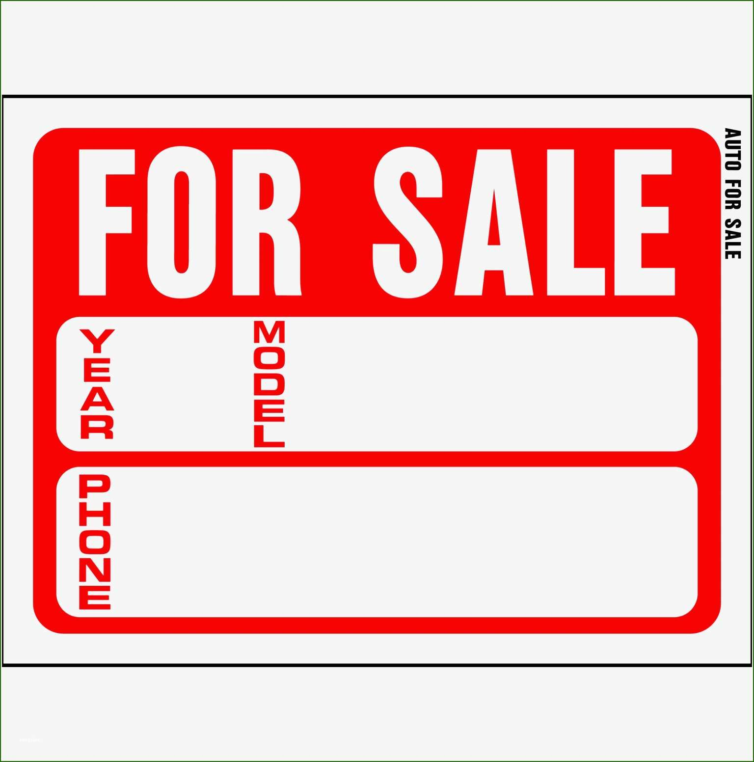 20 Great For Sale Sign Template In 2021 Sign Templates For Sale Sign Templates Car for sale sign template