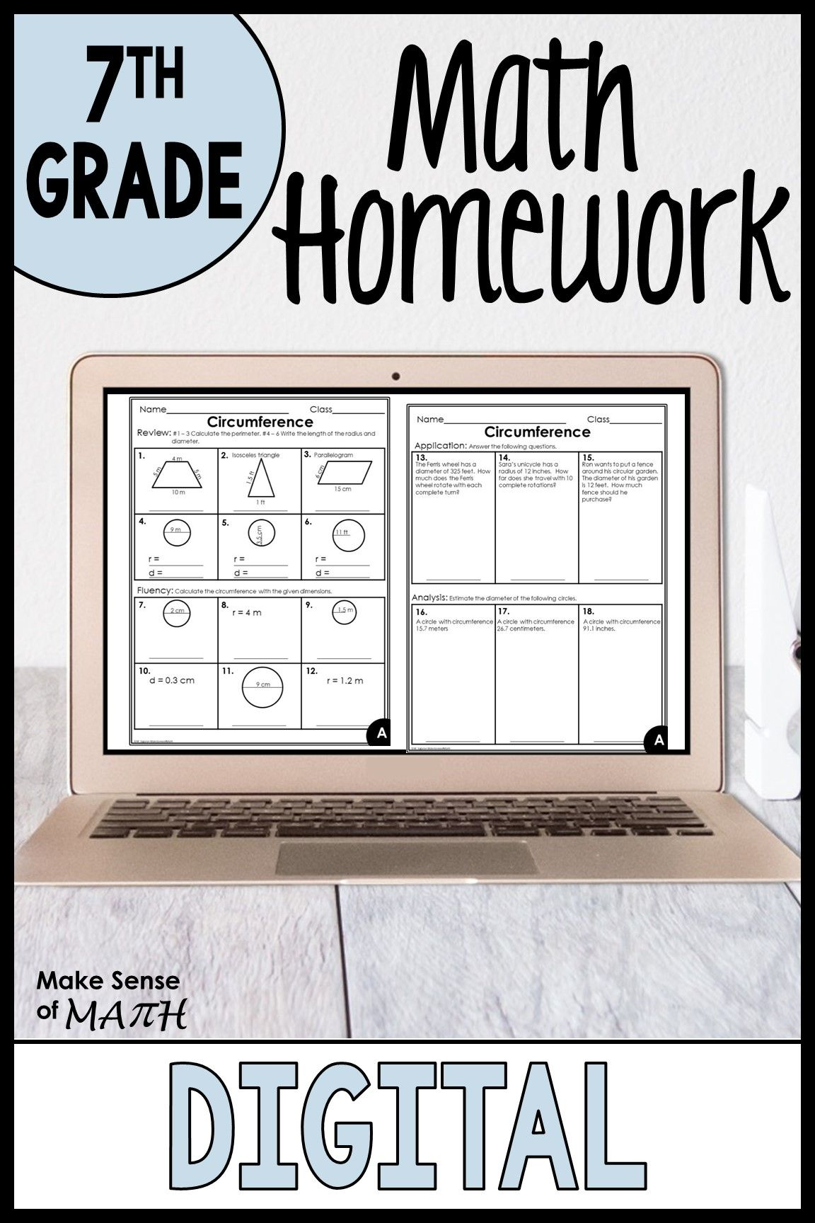 7th Grade Math Worksheets in 2020   7th grade math [ 1728 x 1152 Pixel ]