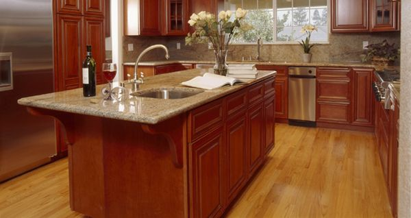 Bamboo Kitchen Flooring Cool With Elegant Kitchen With Bamboo Flooring Five Advantages Of K Cherry Cabinets Kitchen Kitchen Remodel Layout Cherry Wood Kitchens