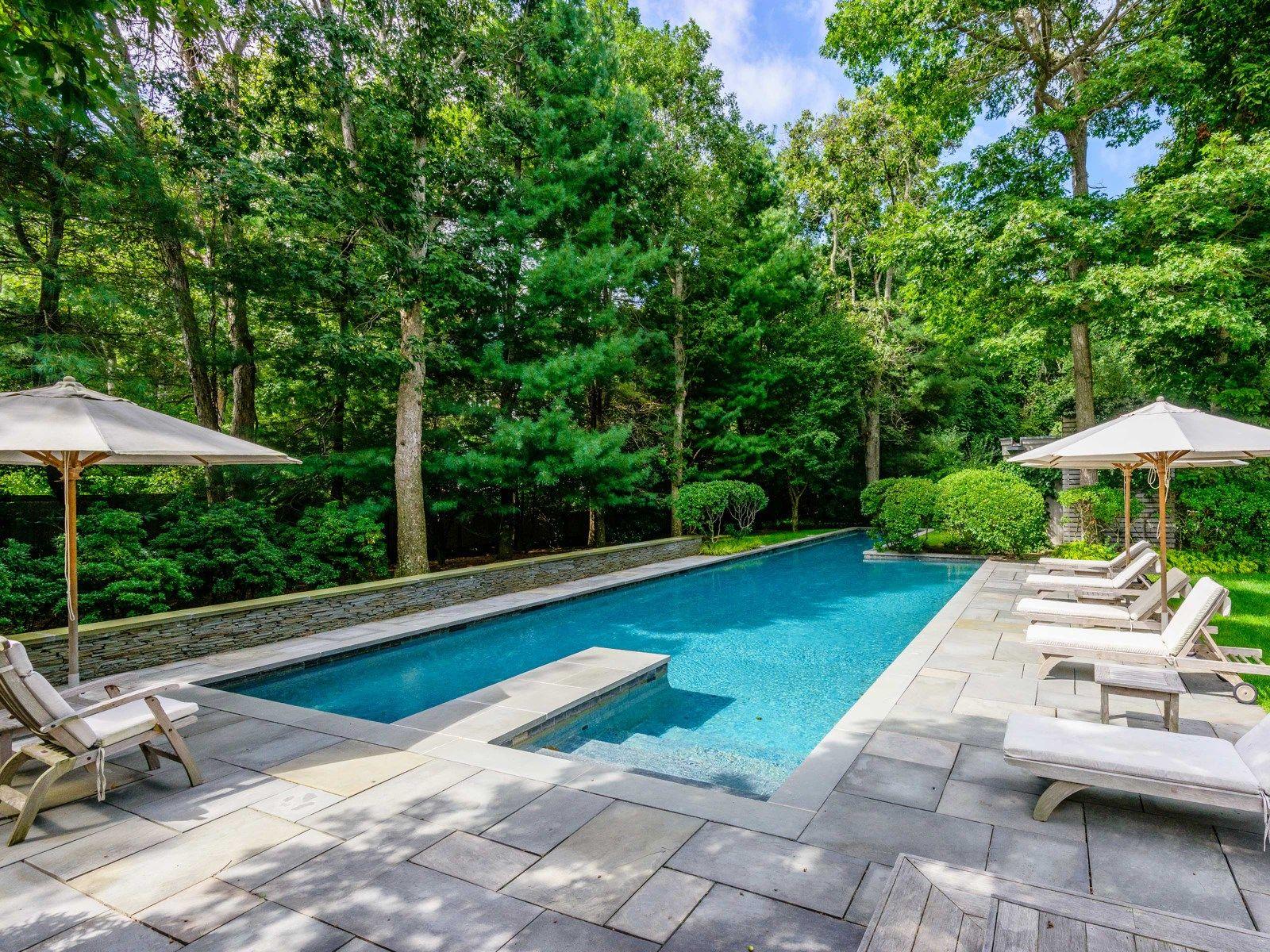 75 foot long heated gunite pool home hampton pool pool for Pool design hamptons