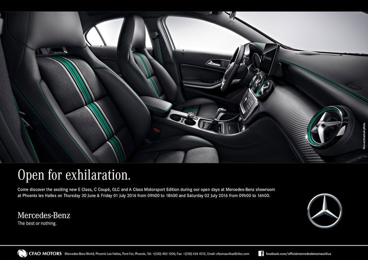 Cfao Motors Mercedes Benz Open Days Tel 402 1200 Auto Moto