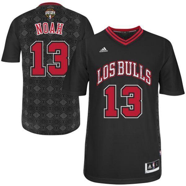 2bb15939a9a Mens Adidas NBA Chicago Bulls 13 Joakim Noah Black New Latin Nights Jersey  Swingman Joakim Noah Chicago Bulls 2014 Noches Enebea Swingman Black  Jersey