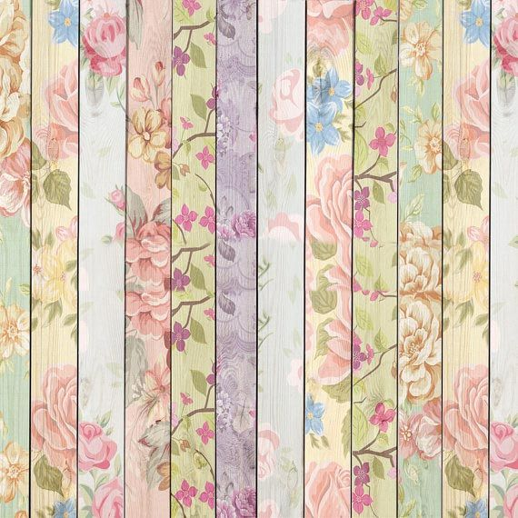 Pastel Flowery Backdrop Shabby Chic Flower Painting Trendy Flowers Painting On Wood