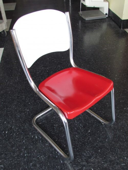 Vintage Metal And Chrome Chair Metal Dining Chairs