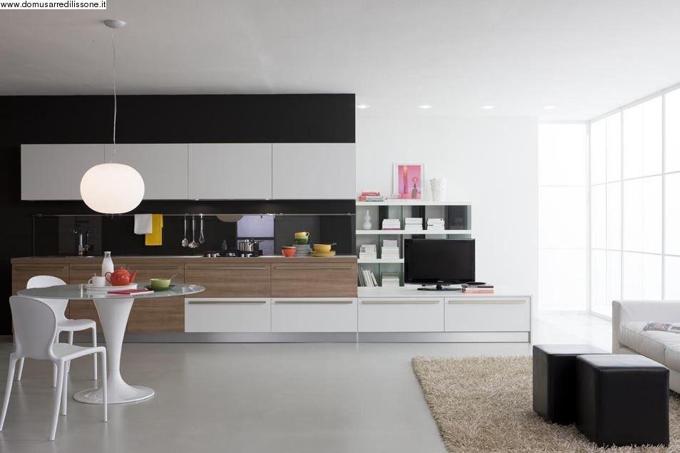 Ethica con zona living Veneta Cucine | Arredamento Cucina | Pinterest