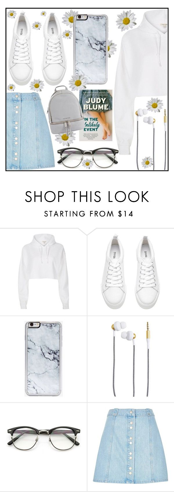 """""""...in the unlikely event."""" by cupcakesweetieme ❤ liked on Polyvore featuring River Island, Zero Gravity, Kreafunk and MICHAEL Michael Kors"""