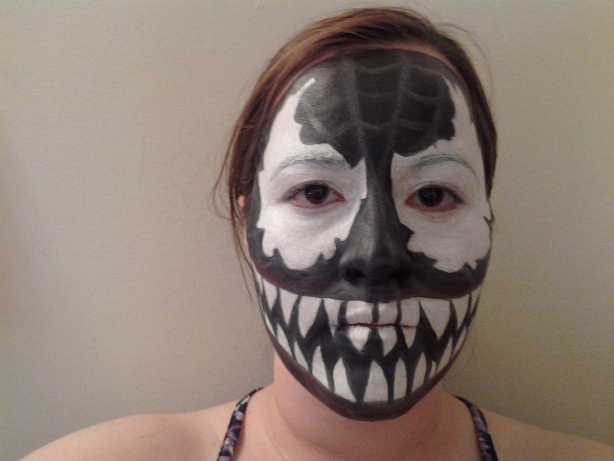 Venom face paint face painting pinterest venom venom face paint baditri Images