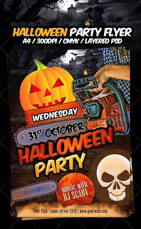halloween party flyer template graphicriver halloween is coming soon get perfect flyer for your 31st october halloween party i hope this one will work - Halloween Party At Work