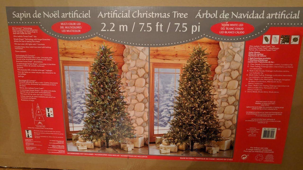 costco 75 artificial pre lit christmas tree unboxing and review - Pre Lit Christmas Tree Reviews