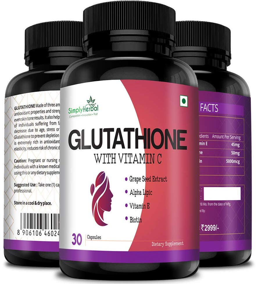 Buy Simply Herbal Glutathione With Vitamin C, Vitamin E