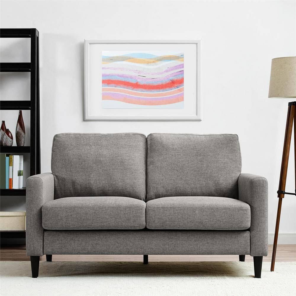 Dorel Living Jenny Contemporary Gray Loveseat Grey Loveseat Furniture Online Furniture Stores