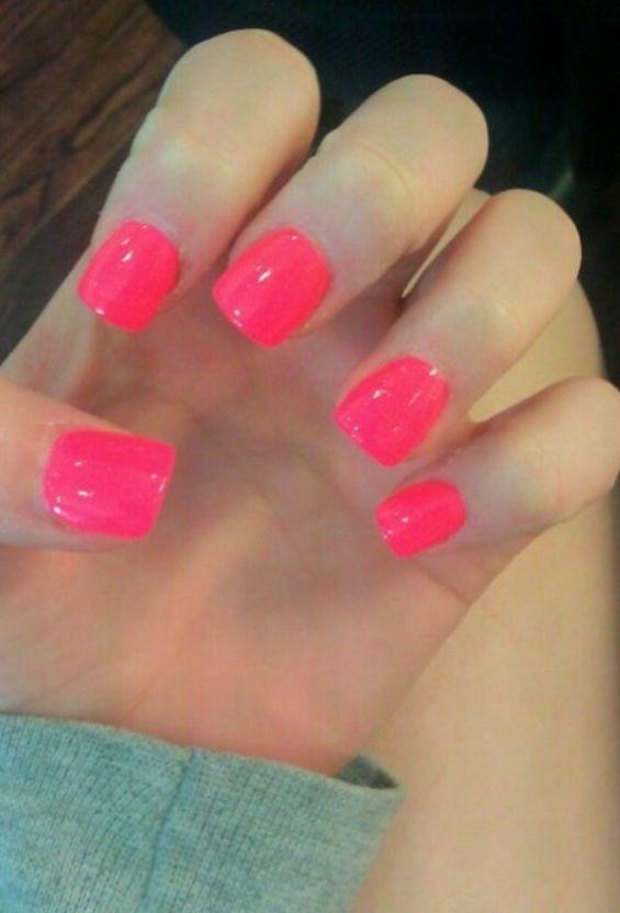 Pink Nails Short Acrylic Nails Pink Nails Pink Acrylic Nails