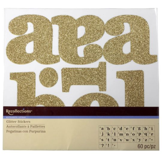 Recollections Large Glitter Alphabet Stickers Alphabet Stickers Glitter Stickers Recollections Glitter
