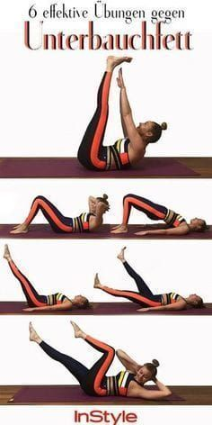 Flacher Bauch: Diese sechs Fitnessübungen bringen richtig viel #pilatesroutines Flacher Bauch: Diese...