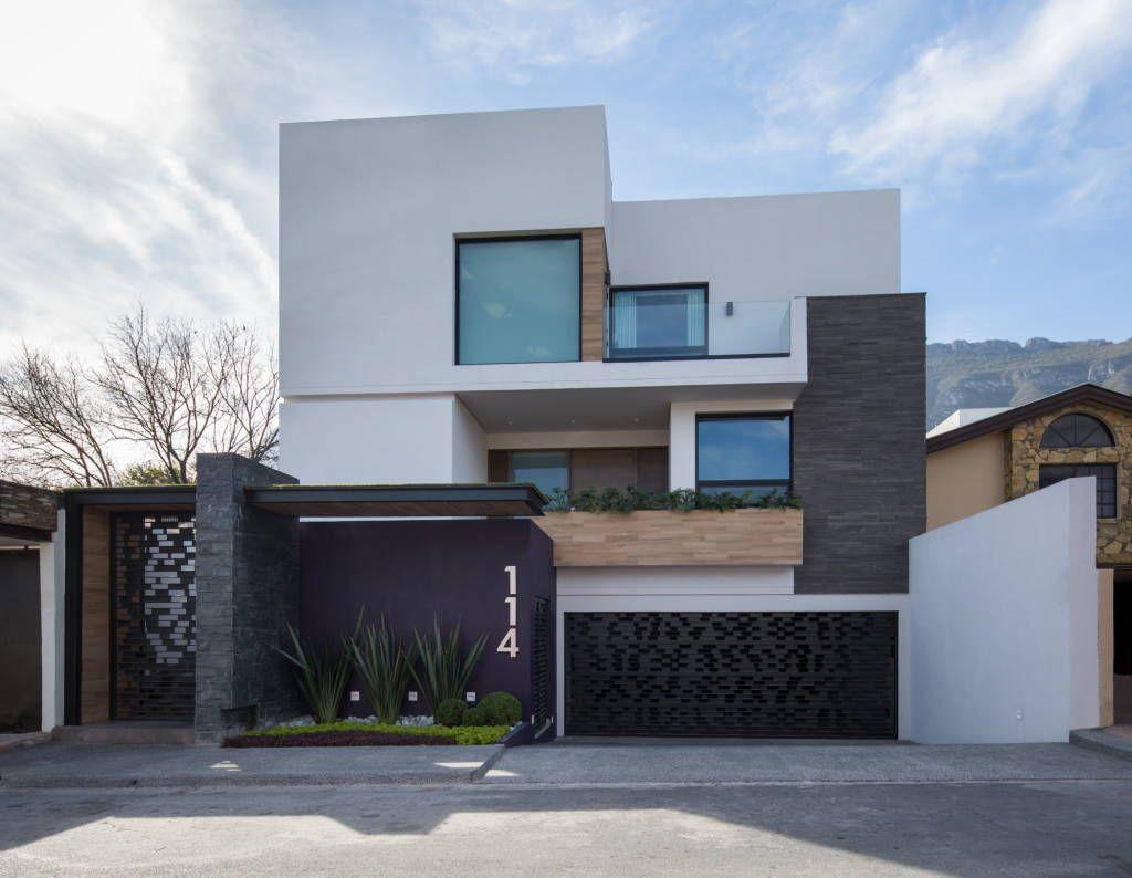 Fotos de casas de estilo moderno fachada fachadas for Foto minimalista