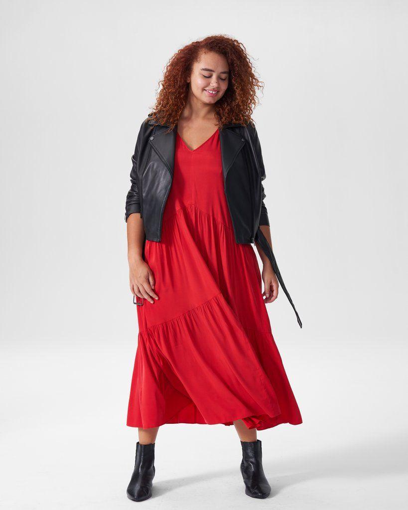 Emily Cupro Maxi Dress Red Maxi Dress Elegant Maxi Dress Red Dress