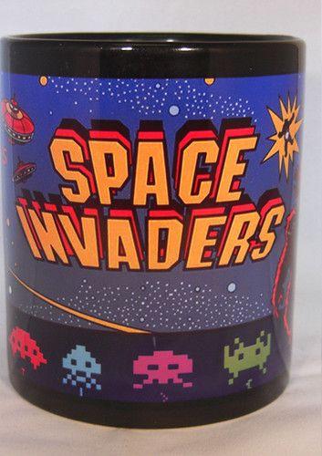 SPACE INVADERS coffee MUG CUP retro gaming ART game | eBay ...