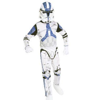 Star Wars Clonetrooper kostuum - maat 98/116  Ga gekleed als een bekende Clone Trooper-soldaat uit de Star Wars prequelfilms met dit coole kostuum. Dit pakje bestaat uit een jumpsuit en masker. Maat 98/116.  EUR 54.99  Meer informatie