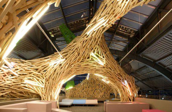 interior design, decor incredible wood sculptured interior
