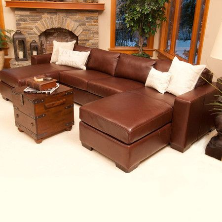 Del Mar Leather Sectional Sofa