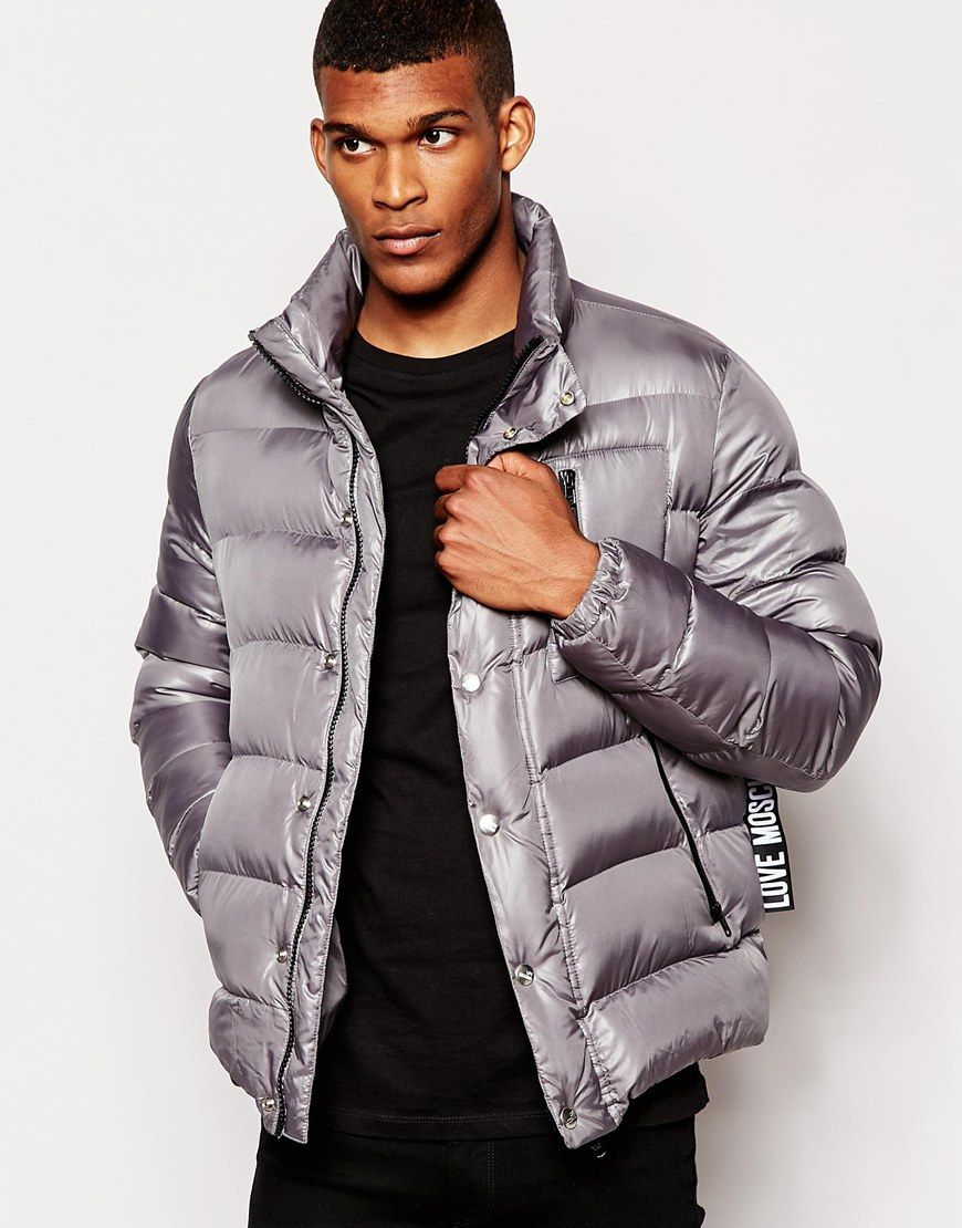 e1725b2b3261b Jacket by Love Moschino Mid-weight, high-shine fabric Padded for insulation  Hooded