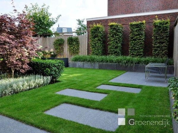 Moderne tuin in Vleuten  정원 디자인  Pinterest  잔디 및 조경