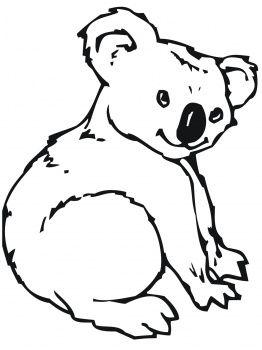 Cute Koala Bear Coloring Pages Animal Coloring Pages Cute Coloring Pages