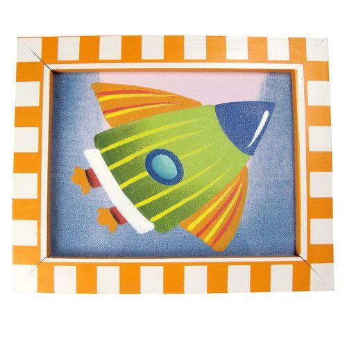 Rocket Framed Canvas - sassafrasstore
